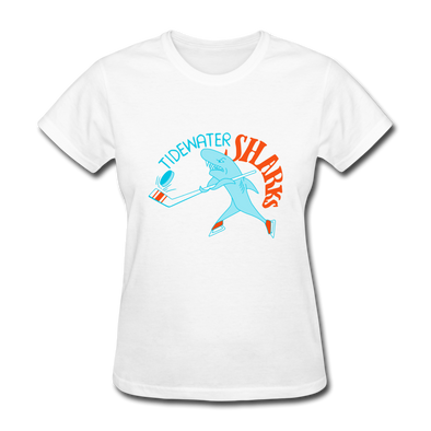 Tidewater Sharks Logo Women's T-Shirt (SHL) - white