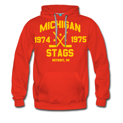Michigan Stags Double Sided Premium Hoodie (WHA) - red
