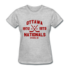 Ottawa Nationals Dated Women's T-Shirt (WHA) - heather gray