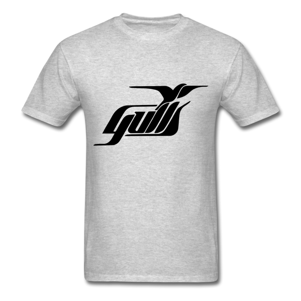 Hampton Gulls Black Logo T-Shirt (SHL) - heather gray