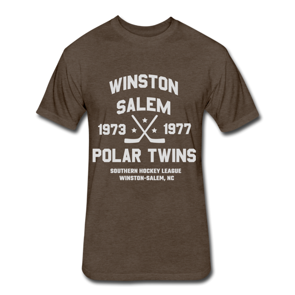 Winston-Salem Polar Twins Dated T-Shirt (SHL) - heather espresso