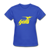 Hampton Gulls Yellow Logo Women's T-Shirt (SHL) - royal blue