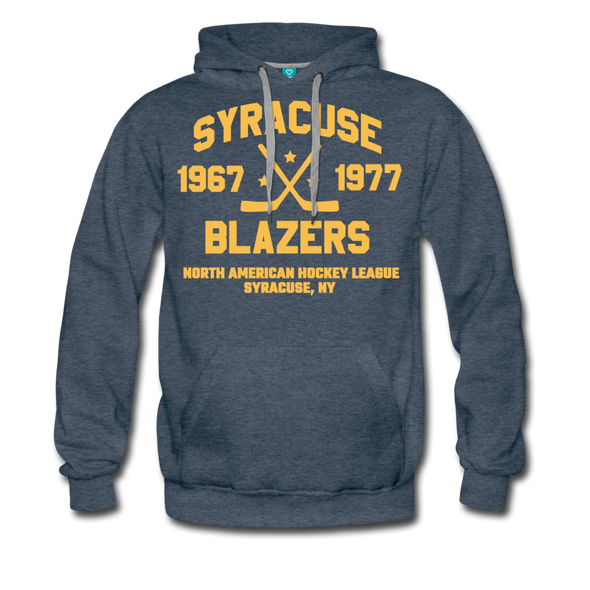 Syracuse Blazers Double Sided Premium Hoodie (NAHL) - heather denim