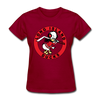 Long Island Ducks 1960s Logo Women's T-Shirt (EHL) - dark red