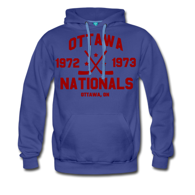 Ottawa Nationals Double Sided Premium Hoodie (WHA) - royalblue