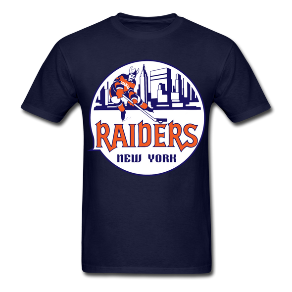 New York Raiders Logo T-Shirt (WHA) - navy