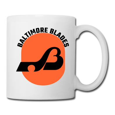 Baltimore Blades Text Logo Mug (WHA) - white