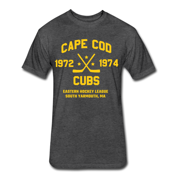 Cape Cod Cubs Dated T-Shirt (EHL & NAHL) - heather black
