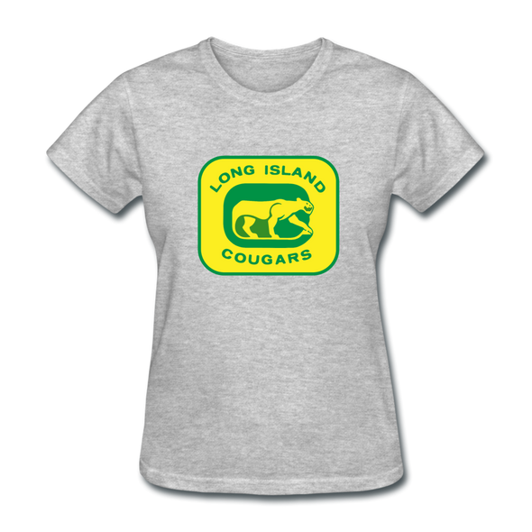 Long Island Cougars Women's T-Shirt (NAHL) - heather gray
