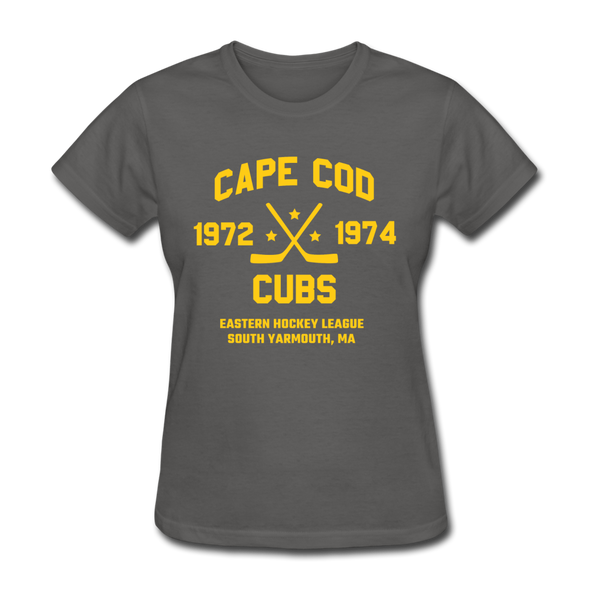 Cape Cod Cubs Dated Women's T-Shirt (EHL & NAHL) - charcoal