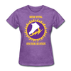 New York Golden Blades Logo Women's T-Shirt (WHA) - purple heather