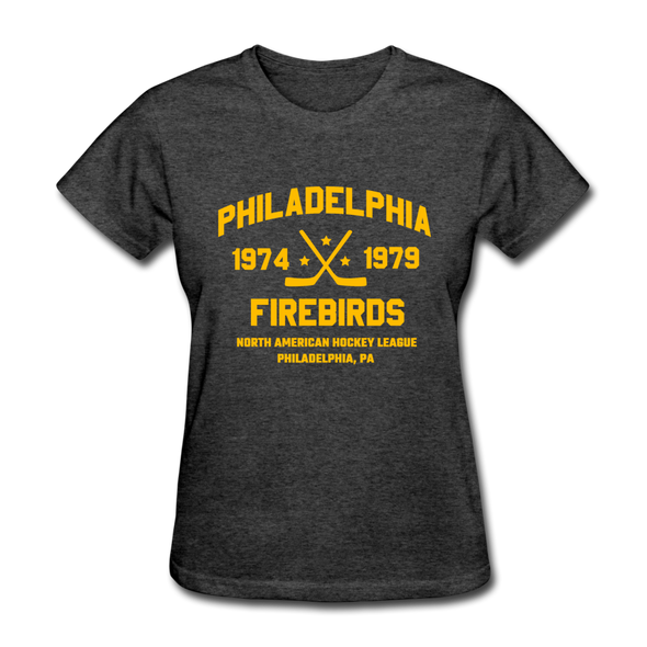 Philadelphia Firebirds Dated Women's T-Shirt (NAHL) - heather black
