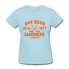San Diego Mariners Dated Women's T-Shirt (WHA) - powder blue