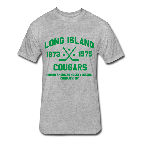Long Island Cougars Dated T-Shirt (NAHL) - heather gray