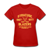 Syracuse Blazers Dated Women's T-Shirt (EHL) - red