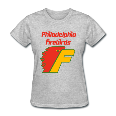 Philadelphia Firebirds Women's Logo T-Shirt (NAHL) - heather gray