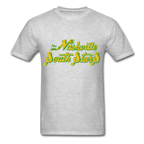 Nashville South Stars Text Logo T-Shirt (CHL) - heather gray