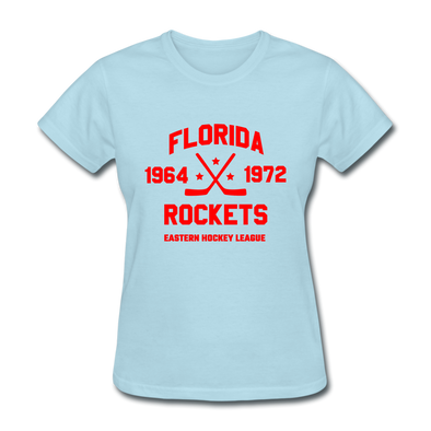 Florida Rockets Dated Women's T-Shirt (EHL) - powder blue
