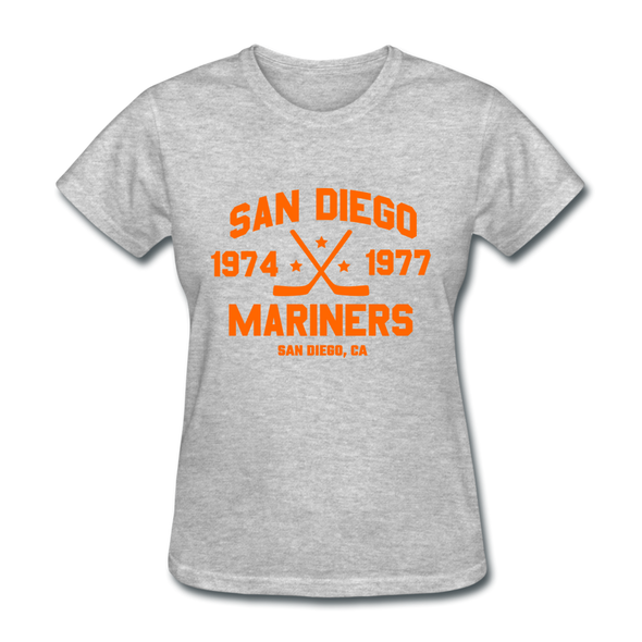 San Diego Mariners Dated Women's T-Shirt (WHA) - heather gray