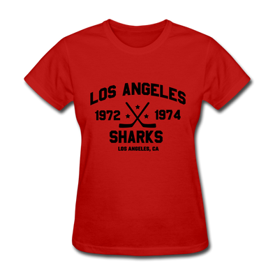Los Angeles Sharks Dated Women's T-Shirt (WHA) - red