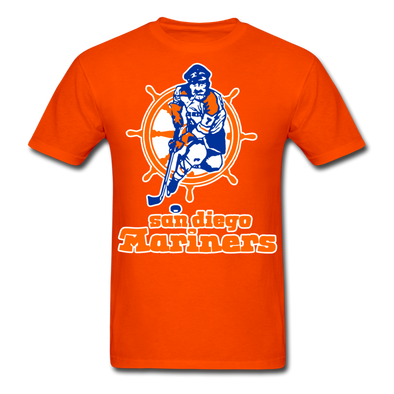 San Diego Mariners Logo T-Shirt (WHA) - orange