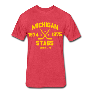 Michigan Stags Dated T-Shirt (WHA) - heather red