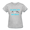 Atlantic City Sea Gulls Logo Women's T-Shirt (EHL) - heather gray