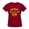 Michigan Stags Dated Women's T-Shirt (WHA) - dark red