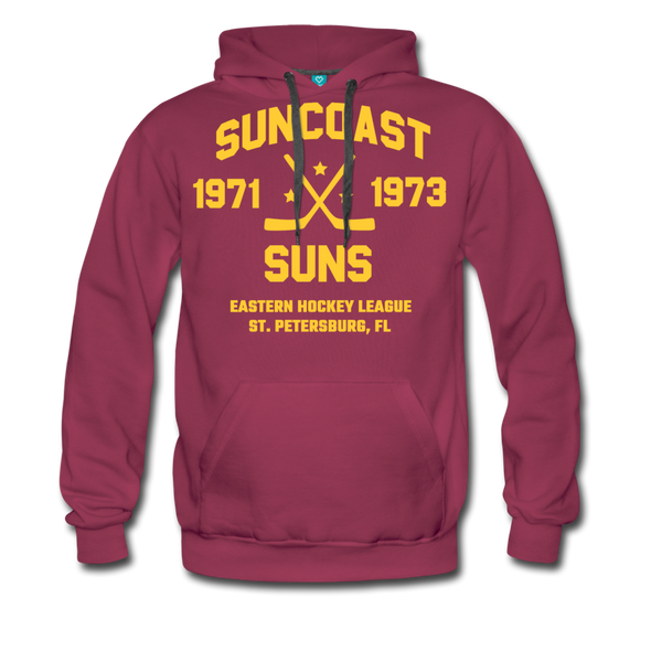 Suncoast Suns Double Sided Premium Hoodie (EHL) - burgundy