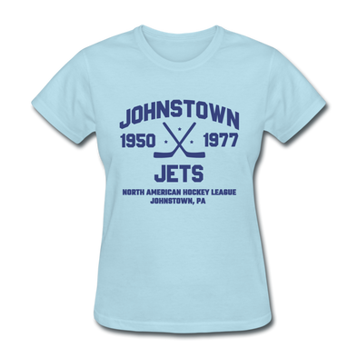 Johnstown Jets Dated Women's T-Shirt (NAHL) - powder blue