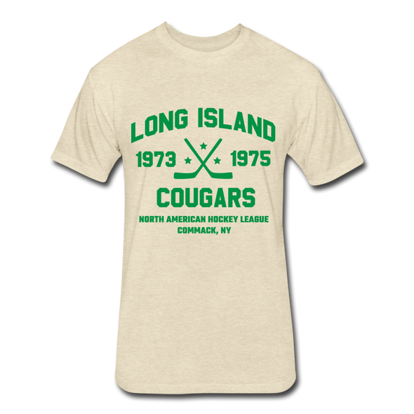Long Island Cougars Dated T-Shirt (NAHL) - heather cream
