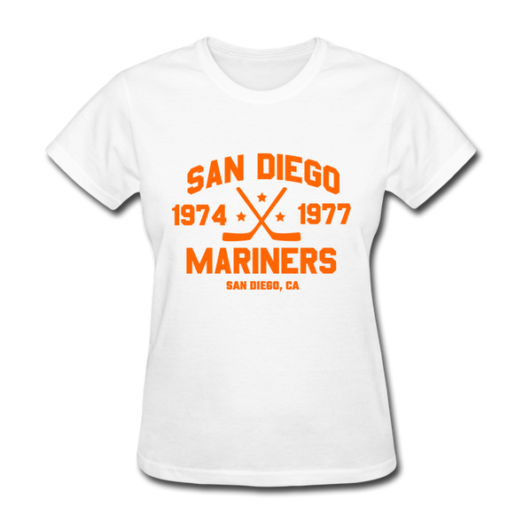 San Diego Mariners Dated Women's T-Shirt (WHA) - white
