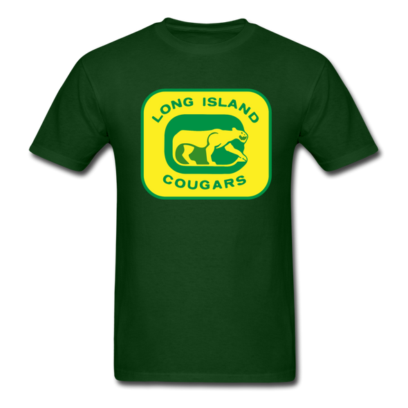 Long Island Cougars Logo T-Shirt (NAHL) - forest green