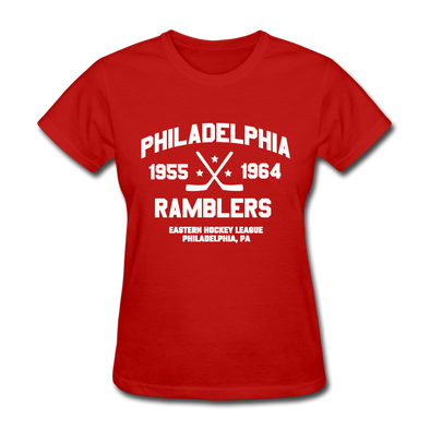 Philadelphia Ramblers Dated Women's T-Shirt (EHL) - red