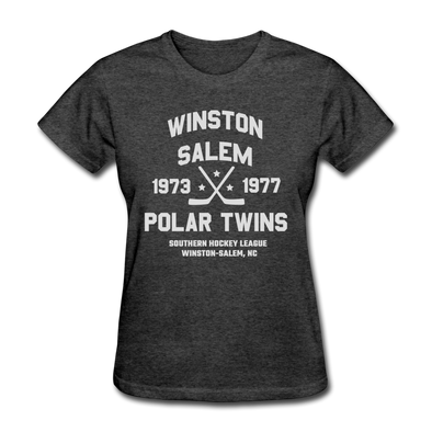 Winston-Salem Polar Twins Dated Women's T-Shirt (SHL) - heather black