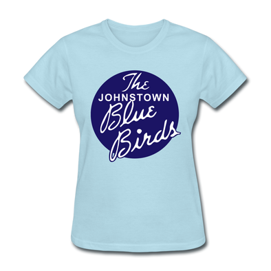 Johnstown Blue Birds Logo Women's T-Shirt (EHL) - powder blue