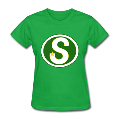 Memphis South Stars Logo Women's T-Shirt (CHL) - bright green