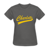 Charlotte Clippers Logo Women's T-Shirt (EHL) - charcoal