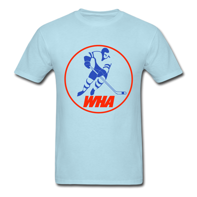 World Hockey Association Clear Logo T-Shirt (WHA) - powder blue