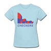 Indianapolis Checkers Logo Women's T-Shirt (CHL) - powder blue