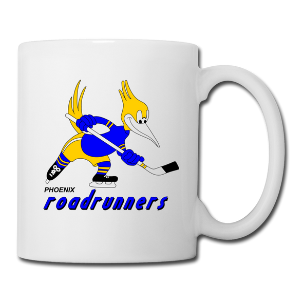 Phoenix Roadrunners Text Logo Mug (CHL) - white