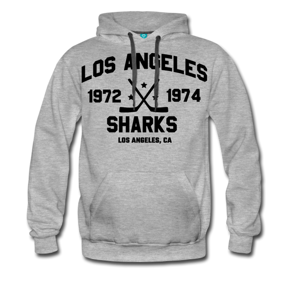 Los Angeles Sharks Double Sided Premium Hoodie (WHA) - heather gray
