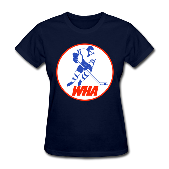 World Hockey Association Logo Women's T-Shirt (WHA) - navy