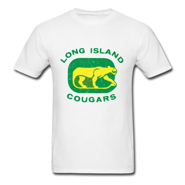 Long Island Cougars Distressed Logo T-Shirt (NAHL) - white