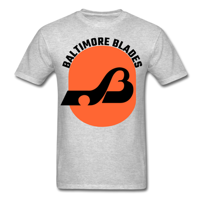 Baltimore Blades Text Logo T-Shirt (WHA) - heather gray