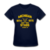Michigan Stags Dated Women's T-Shirt (WHA) - navy