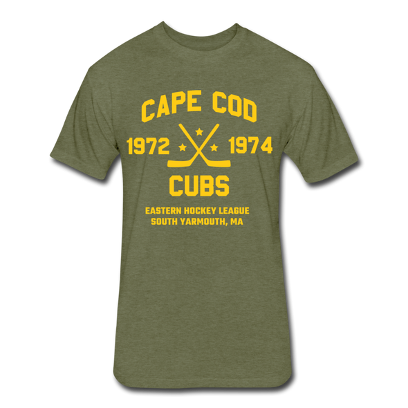 Cape Cod Cubs Dated T-Shirt (EHL & NAHL) - heather military green