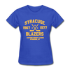 Syracuse Blazers Dated Women's T-Shirt (EHL) - royal blue