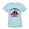 Los Angeles Sharks Logo Women's T-Shirt (WHA) - powder blue