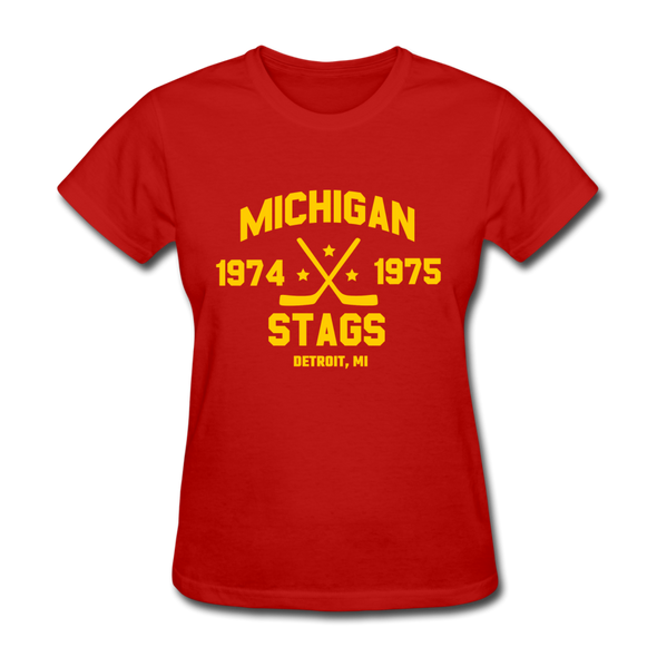 Michigan Stags Dated Women's T-Shirt (WHA) - red